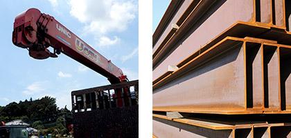 建築資材・土木資材などの重量物運搬